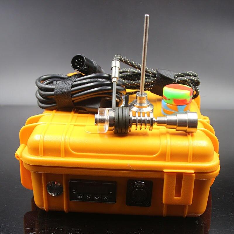 Enail étanche électrique Dab E titane clou Quartz plat Dabber régulateur de température contrôleur intelligent bobine de chauffage pour tuyaux