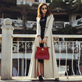 European Fashion 2016 Spring and Autumn Plus Size Goddess Coat Full Sleeve Long Woman Trench Solid Color Zipper Female Overcoat