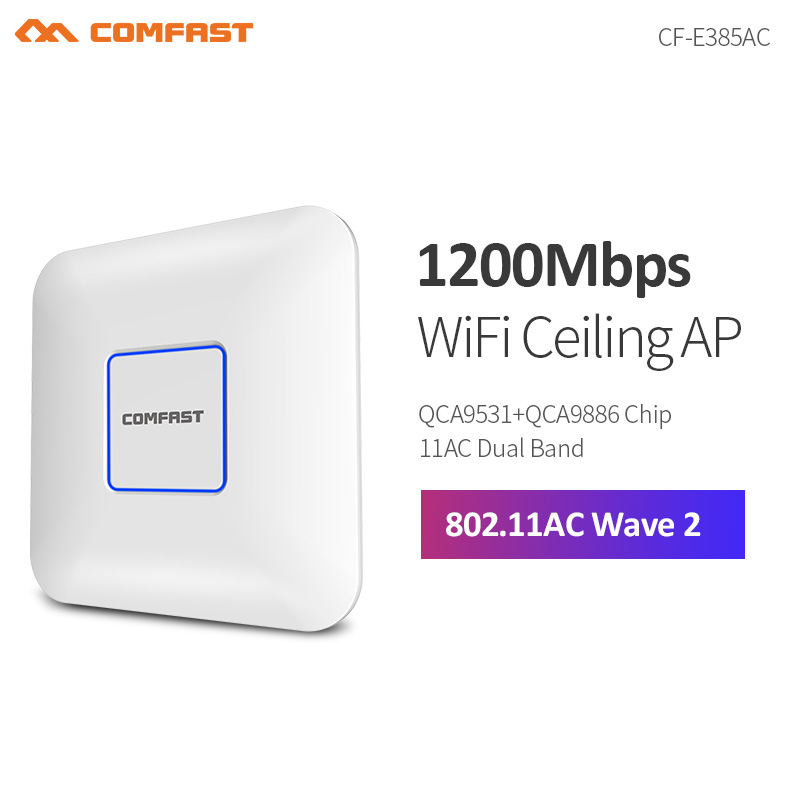 COMFAST CF-E385AC 2200M Gigabit Dual Band Router WAVE 2 Ceiling Wireless WiFi AP Access Point Repeater Open Ddwrt Wifi Access AP