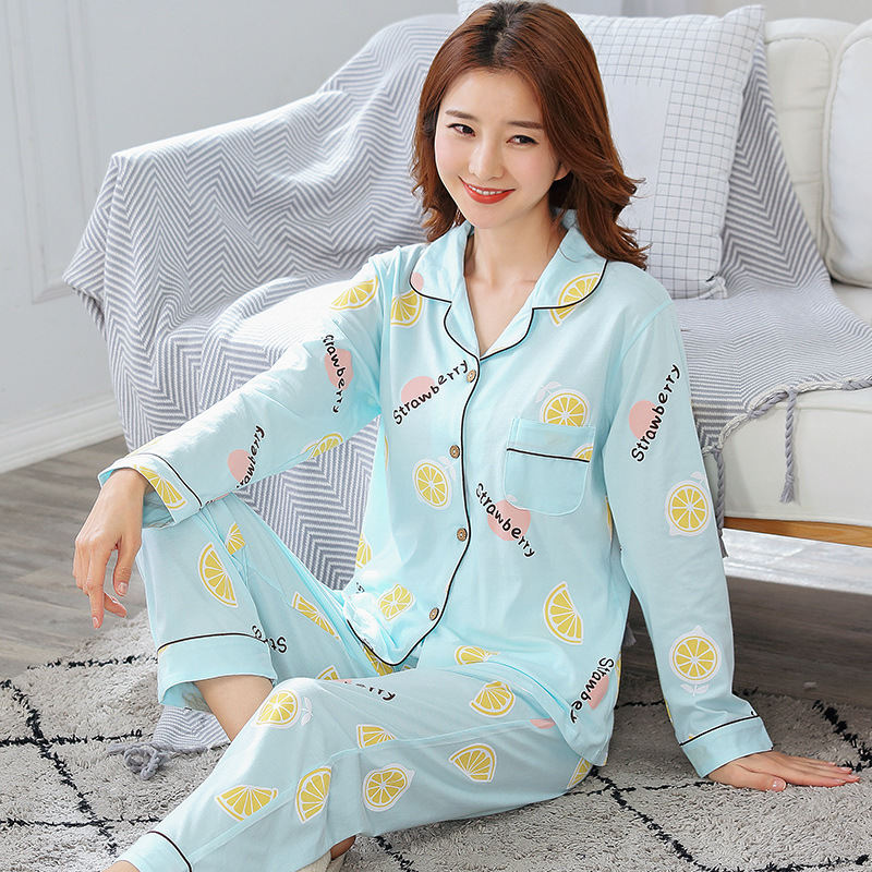 New arrival women's clothing women   pajamas     set   plus size long sleeve cotton pyjamas women autumn summer evening sleep pyjama