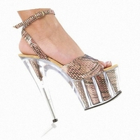 Elegant Evening Dress Shoes Performance For The New 15 Cm High Heeled Sandals Thick Bottom Glass