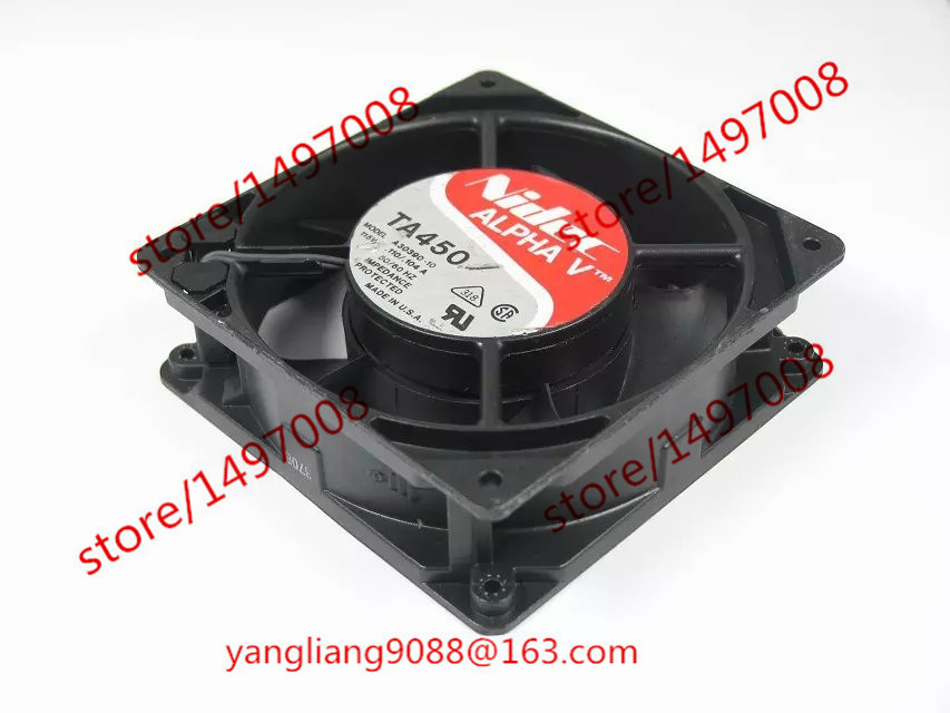 где купить Free Shipping For Nidec TA450 A30390-10 AC 115V 0.110/0.104A 2-piece Server Square Cooling Fan дешево