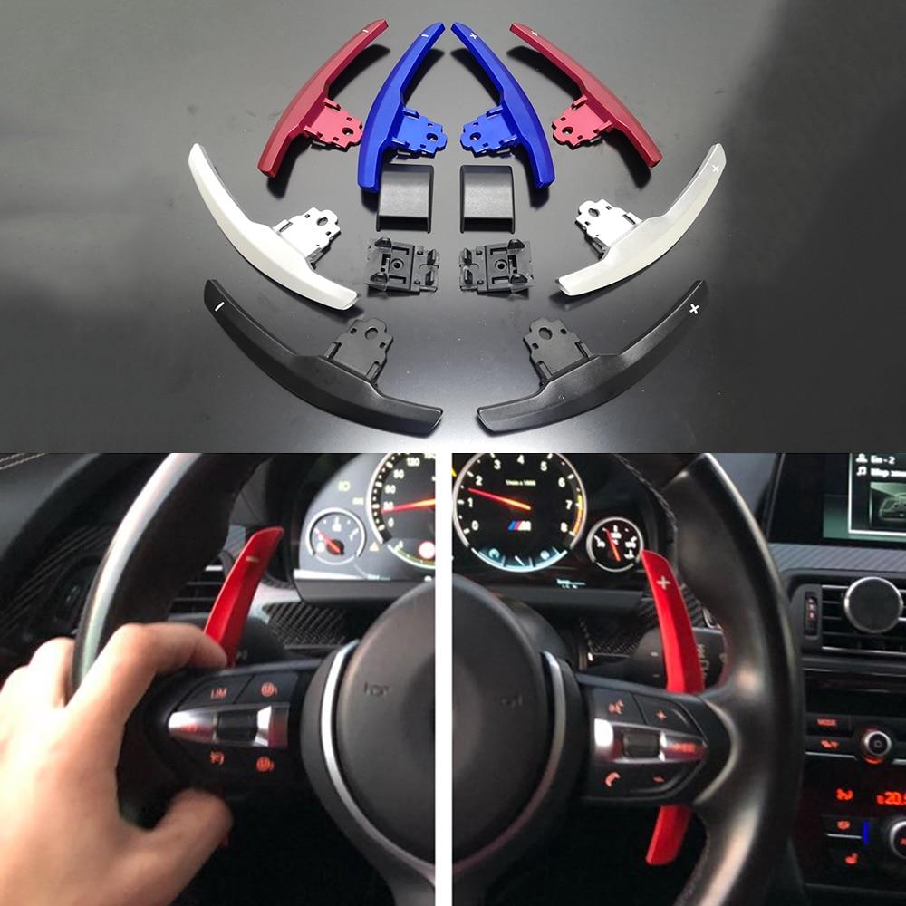 Métal et Volant En Fiber De Carbone Pagaie Extension manette de vitesse remplacer Pour BMW M2 F80 M3 F82 F83 M4 F10 M5 F12 M6 F15 X5M F16 X6M