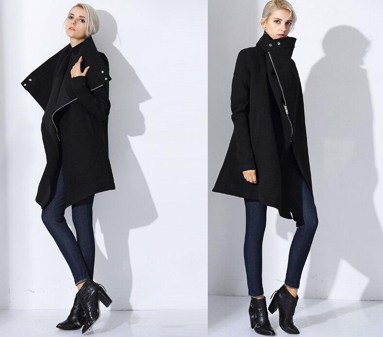 façon Pardessus Style Pur Zipper Col Femmes Lâche De Mode Multi Laine Qualité M 38 40 l Haute n8Hx8wqYA