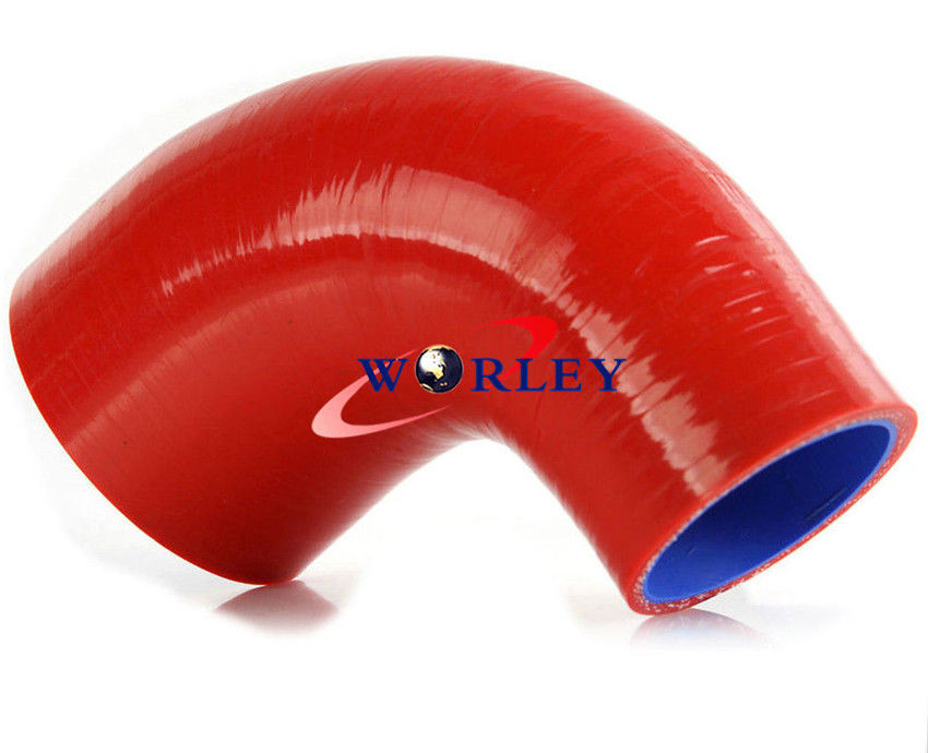 """3.5/"""" Silicone Hose//Intercooler Pipe Elbow Coupler RED For Nissan//Datsun"""