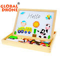 New arrival christmas wooden toys magnet stick puzzle farm jungle animal children kids jigsaw baby drawing easel board