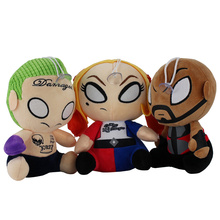 19 20cm Suicide Squad Joker Harley Quinn cartoon plush doll toy Hot Movie Suicide Squad soft