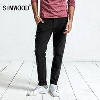 Simwood 2017 Casual Pants Men New Arrival Black Brand Trousers Slim Sweatpants Plus Size High Quality