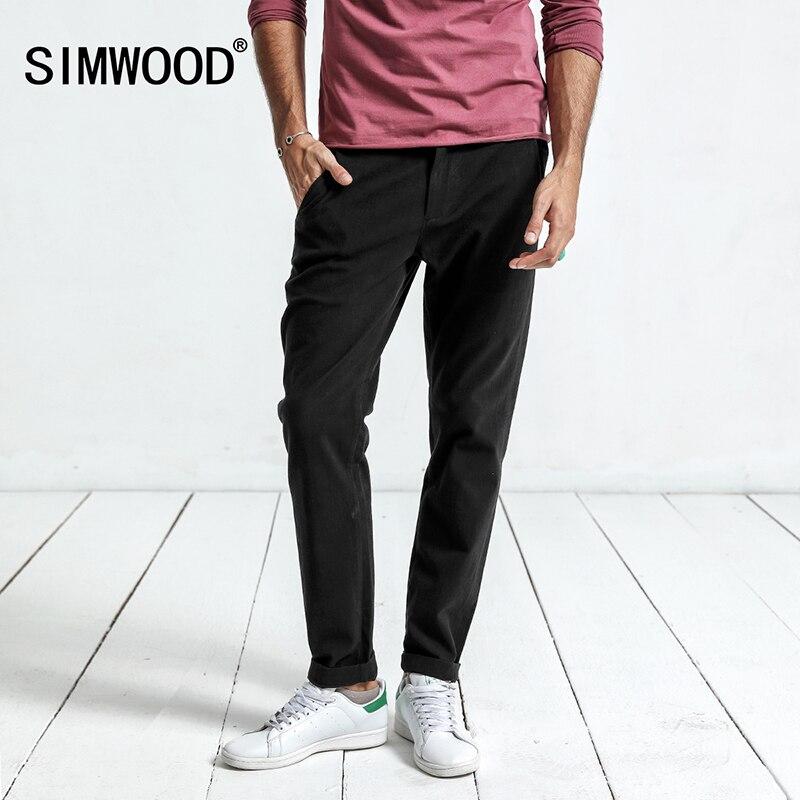 Simwood 2018 Casual Pants Men New Arrival Black Brand Trousers Slim Sweatpants Plus Size High Quality Pantalon Homme XC017023