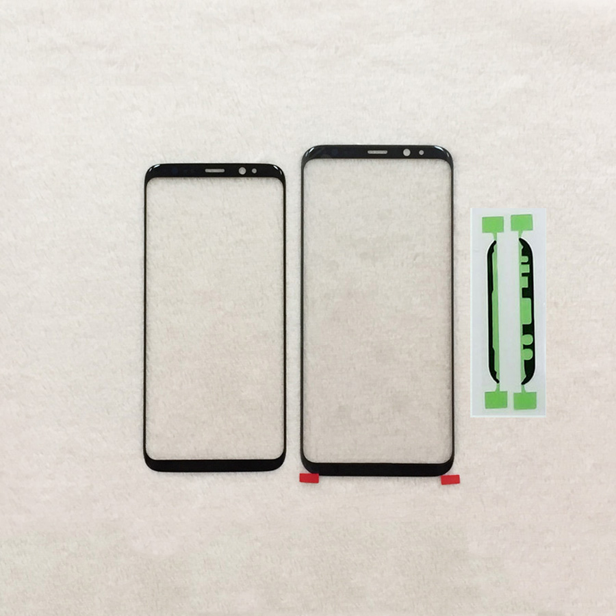 Brand new Touch panel Replacement For Samsung Galaxy S8 G950 G950F / S8 + plus G955 black Front Outer Glass Lens +Adhesive
