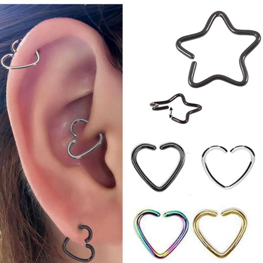 2f26cc316153d 2Piece Free Shipping 16G 1.2mm Daith Orbital Piercing Earring Heart ...