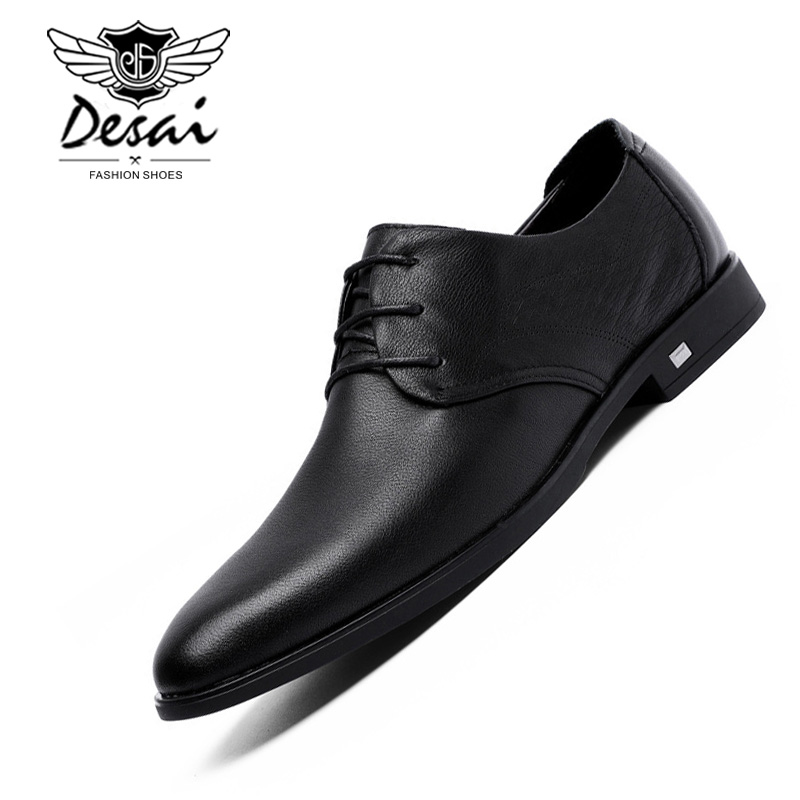 Shoes Good Fashion High Quality Men Full Grain Leather Business Lace-up Mens Leather Shoes British S Mens Shoes Oxford Clearance Price