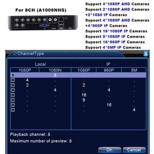 Image 4 - Mini 4CH 8CH 1080N AHD DVR 5 في 1 الهجين DVR HVR مسجل فيديو Onvif XMEYE سحابة P2P أمن الوطن 1080P NVR CCTV DVR نظام