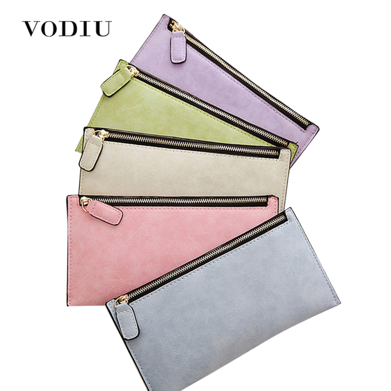 Luxury Leather Zipper Women Long Slim Wallet Ladies Handbag Clutch Card Money Coin Phone Holder Portomonee Female Wristlet Clip casual weaving design card holder handbag hasp wallet for women