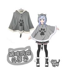 Neko Atsume Madara Cat Costume Trench Anime cloak Animal Cosplay Women Jacket  New