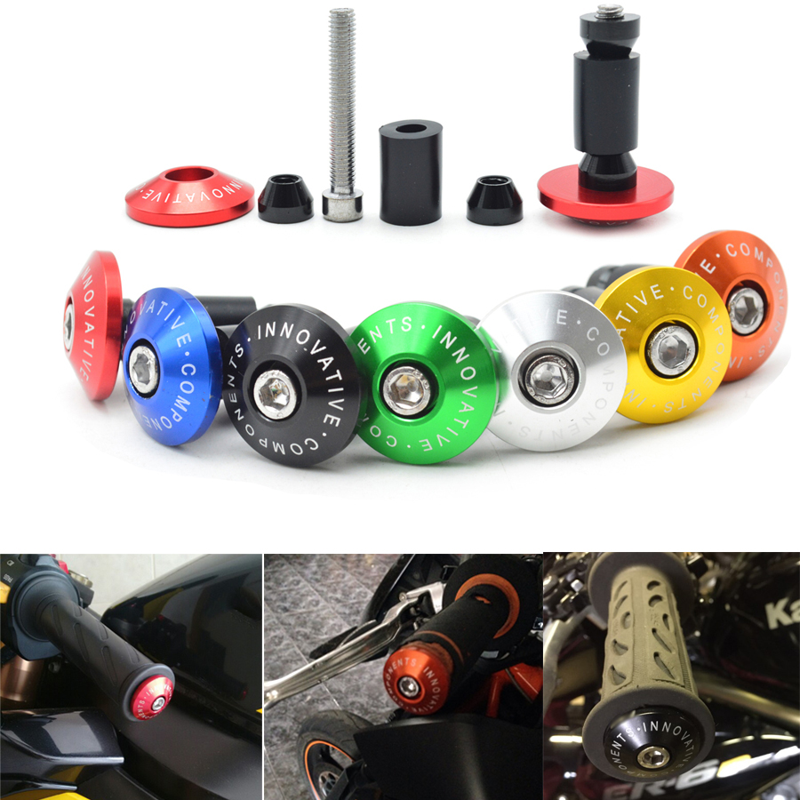7/8''22 mm CNC motorcycle handlebar cap motocross handle bar grips ends For Suzuki GSXR1000 GSXR600 GSXR750 GSXR GSR600 GSR750  7 8 22 motorcycle handlebar cap motocross handle bar grips ends for suzuki gsx r ducati honda cbr 250rr cb600f cbf600 vfr800