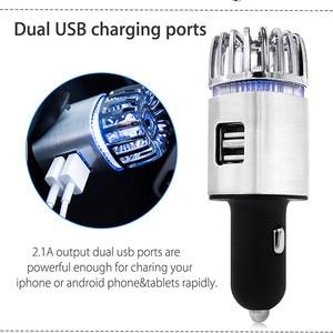 Image 4 - Purificateur dair frais 2 en 1 pour voiture, double USB, purificateur dair frais, barre doxygène, Ozone, générateur de fumée pour voitures, nettoyeur de voiture
