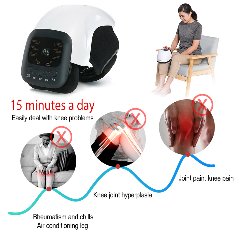 Image 2 - 1pcs Smart Knee Massager Pain Relief Acupuncture Rheumatic Instrument Infrared Heated Vibration Therapy Osteoarthritis Arthritis-in Massage & Relaxation from Beauty & Health
