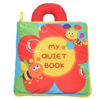 Candice guo newest arrival soft baby toy multi purpose cloth book flower bee my quiet book