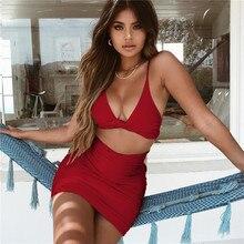 Femmes D été Sexy Night Club tenue de fête Mode Spagetti Bretelles Évider  robe moulante 70018c3875ef