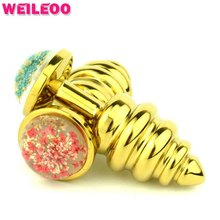 small size high quality metal prostate massager threaded butt plug anal plug adult sex toy for man gay woman