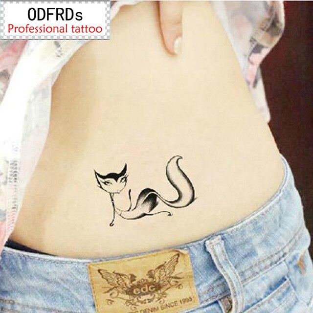 Waterproof Temporary Tattoo Tatoo Henna Fake Flash Tattoo Stickers Taty Tatto Tatuagem Tattoos Tatuajes Cute Little Fox SYA076