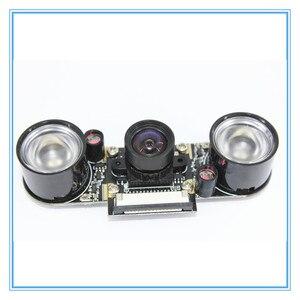 Image 1 - Raspberry Pi 3 Nacht Vision Fisheye Kamera 5MP OV5647 100 Grad Brenn Einstellbare Kamera für Raspberry Pi 3 Modell B plus