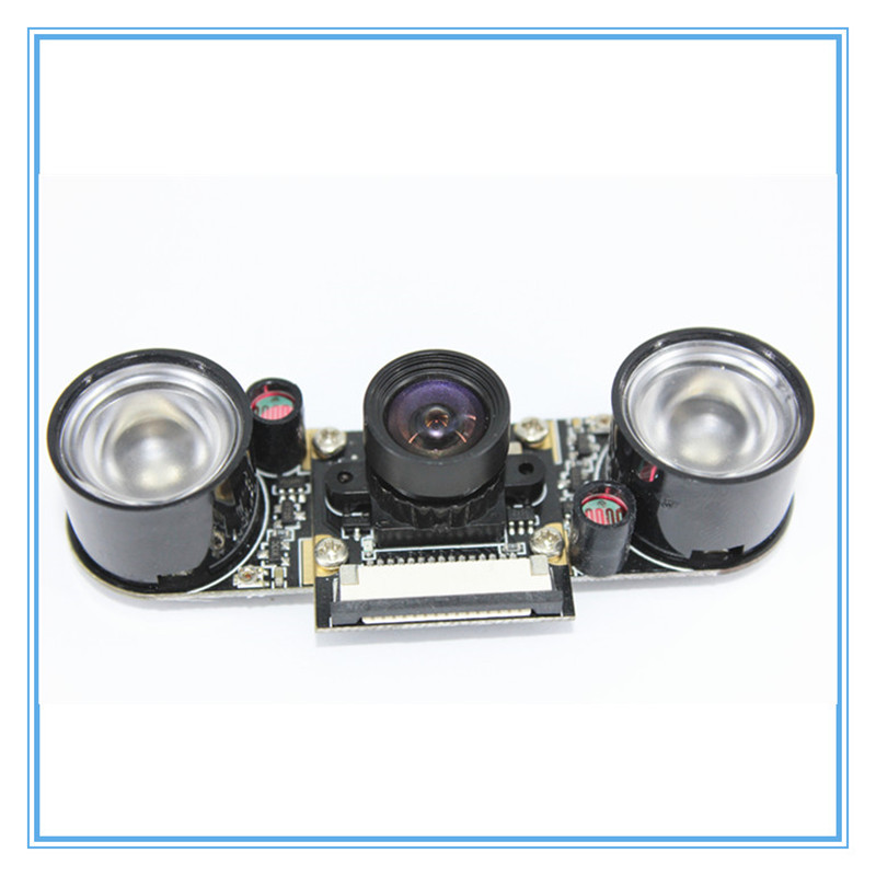 Raspberry Pi 3 Night Vision Fisheye Camera 5MP OV5647 100 Degree Focal Adjustable Camera for Raspberry Pi 3 Model B Plus-in Demo Board Accessories from Computer & Office