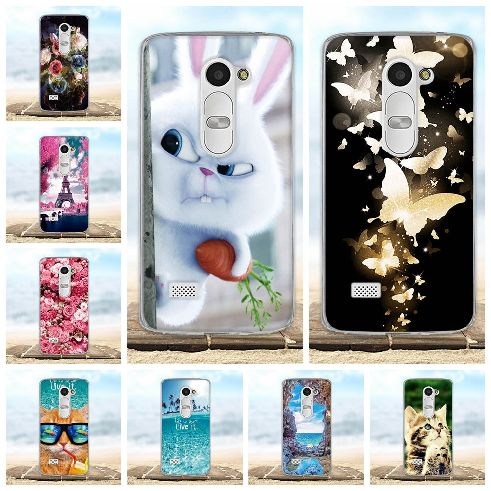 a7fe61751 Cover For LG Leon 4G LTE H340N C50 C40 Case Coque 3D Cute Animal Bags Shell