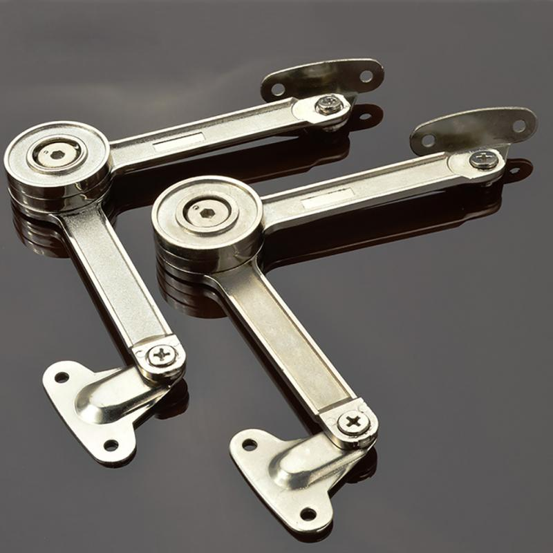 Ambitious New 2pcs Top Quality Zinc Alloy Adjustable Stays Door Lift Support Furniture Stay Support Hinge Cabinet Door Kitchen Cupboard