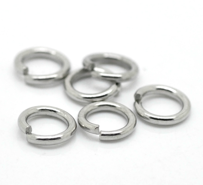 Fashion 500PCs Silver Tone Stainless Steel Open Circle Jump Rings DIY necklace bracelet Jewelry Making Accessories 7mm x 1.2mm