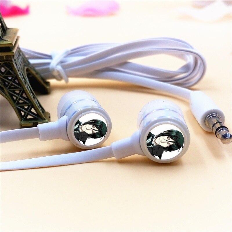 Anime Black Butler Sebastian Michaelis In-ear Earphone 3.5mm Stereo Earbud MicroPhone Game Headset for Iphone Samsung Xiaomi MP3 xiaomi miui 3 5mm stereo in ear earphone w microphone blue