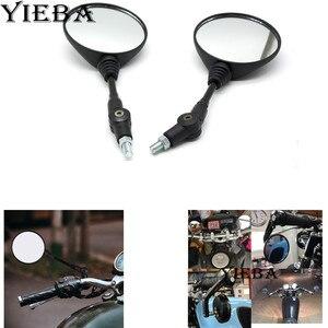 Dla HONDA CB600 CB750 CB900 CB1000 CB1300 lusterko motocyklowe 8mm 10mm lusterko wsteczne motocyklowe składane motocyklowe lusterka boczne