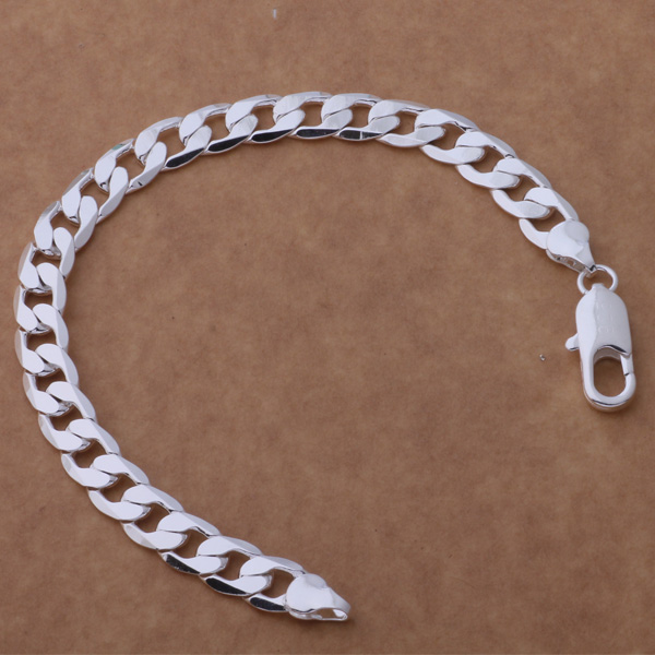 Silver Plated Snake 8 Mm...