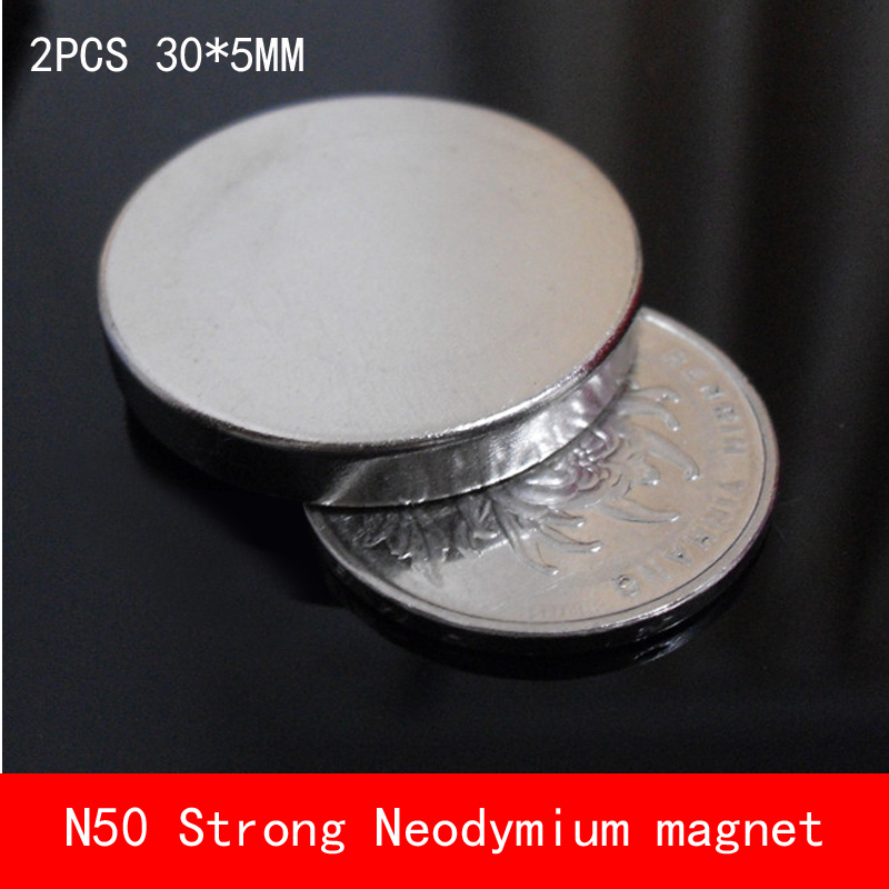 2PCS D30*5mm round N50 Strong magnetic force rare earth Neodymium magnet n50 diameter 30X5MM earth 2 vol 5