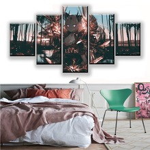 HD Prints Canvas Painting Wall Art Framework Home Decor 5 Pieces Anime Closers Girl Poster Decor Living Room Modular Picture frameless dancing girl oil painting butterfly wall poster canvas art hd modular picture home decor 3 pieces