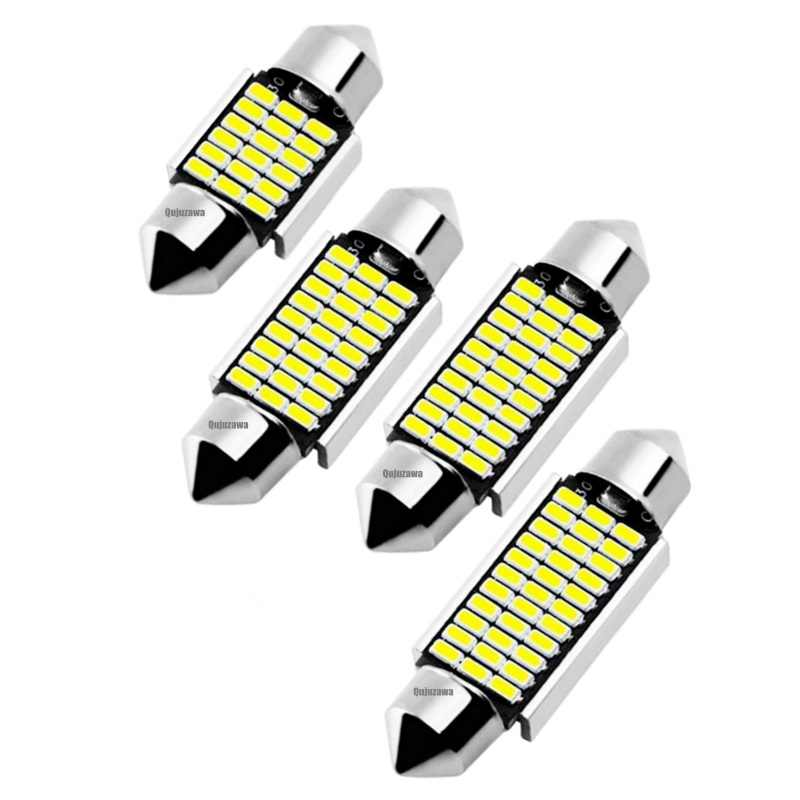 Festoon 31 Mm 36 Mm 39 Mm 41 Mm Bohlam LED C5W C10W Super Bright 4014 SMD CANBUS Kesalahan Gratis auto Interior Doom Lampu Mobil Styling Lampu