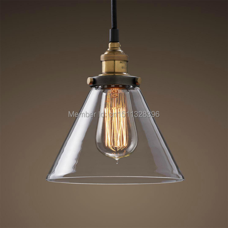 Industrial Edison Antique Glass 1-Light Mini Pendant Hanging Light  Cafe Bar Coffee Shop Bedside Hall Way Store Shop Club edison vintage style e27 copper screw rotary switch lamp holder cafe bar coffee shop store hall club