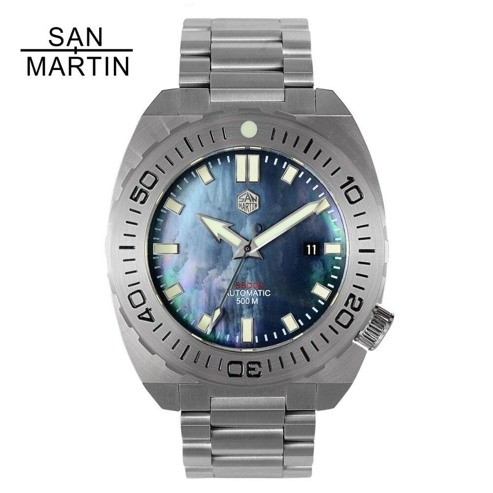 San Martin Hommes Montre Mécanique Plongée Montre-Bracelet 500 Merter Résistance À L'eau En Acier Inoxydable Montre Relojes Hombre 2018 Nouveau