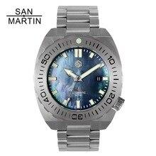 Сан Мартин для мужчин механические часы дайвинг наручные 500 Merter сопротивление воды нержавеющая сталь часы Relojes Hombre 2018 Новый