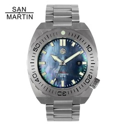 5fe8cce5024 San Martin Men Mechanical Watch Diving Wristwatch 500 Merter Water  Resistance Stainless Steel Watch Relojes Hombre