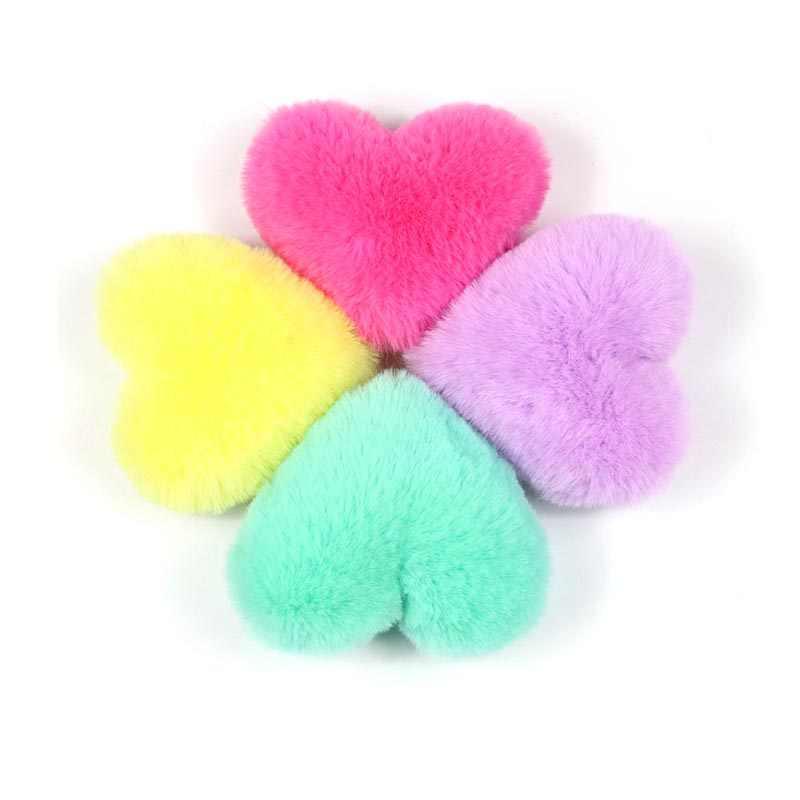 1pc do Falso Pele De Coelho 10 centímetros Pom Poms Bola Pêssego Pompons DIY Artificial para As Mulheres Em Forma de Coração Chaveiro sacos de Acessórios de Moda