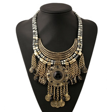 Charm Vintage Exaggerate Multilayer Tassel Necklace collares populares colar longo ketting gargantilha