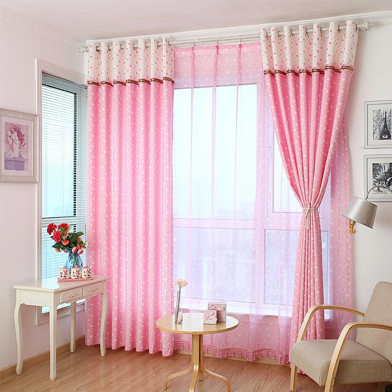Ventana de la princesa niños rosa y blanco Cortinas el nuevo