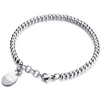 Women S Stainless Steel Bracelets Rose Gold Plated Bead Bracelet Jewelry Lucky Cat Bead Bracelet Gift