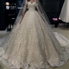 FANGDALING 2019 Champagne Ball Gown Wedding Dress