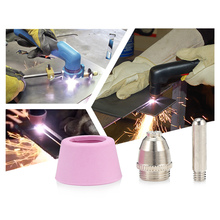 80pcs AG60 / SG55 Torch Accessories Ceramic + Metal Air Plasma Cutting Cutter Consumables Extended Electrode TIP Nozzle