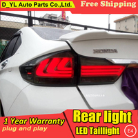 D_YL Car Styling Accessories for honda city rear Lights 2015 led TailLight honda city Rear Lamp DRL+Brake+Park+Signal lights led