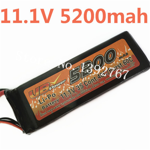 VB Power 11.1V 5200MAH Lipo Li-Po Battery 3S Cont.40C/Burst 60C For RC Racing Cars Monster Truck Boats Tank Recharge RC Battery