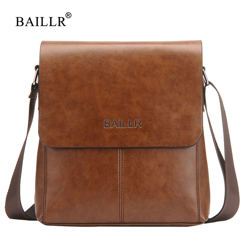 BAILLR Brand Mens shoulder bags Crossbody Vintage Casual Messenger Bag designer famous brand business briefcase Men bag flap New original new for nihon kohden pvm 2700 pvm 2703 pvm 2701 sb 201p x076 monitor rechargeable battery 12v 3700mah free shipping